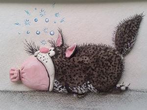 Лепим прикольный триптих «Кот и колбаса». Часть 3. Ярмарка Мастеров - ручная работа, handmade.