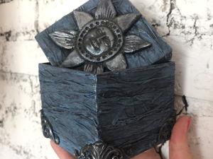 Простая идея шкатулки из картона. Ярмарка Мастеров - ручная работа, handmade.
