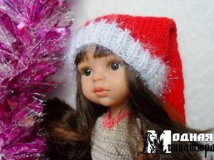 Вяжем новогодний колпак для куклы (на любой размер). Ярмарка Мастеров - ручная работа, handmade.