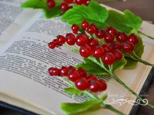 Create Red Currant Sprig Of Cold Porcelain. Livemaster - handmade