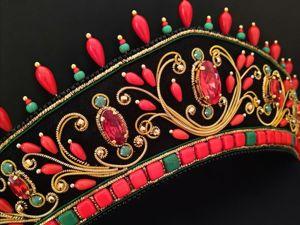 Скидка на Кокошник  «Золотая Хохлома». Ярмарка Мастеров - ручная работа, handmade.
