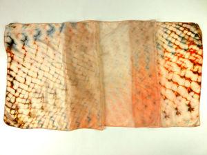 Расписываем шелковый шарфа в технике складного батика шибори: видеоурок. Ярмарка Мастеров - ручная работа, handmade.