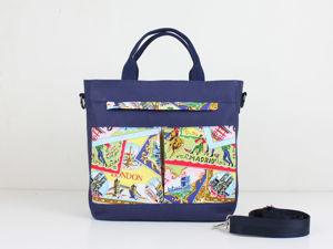 Шьем сумку с карманами «Путешествие». Ярмарка Мастеров - ручная работа, handmade.