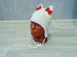 Шьем шапочку на завязках для малыша. Ярмарка Мастеров - ручная работа, handmade.
