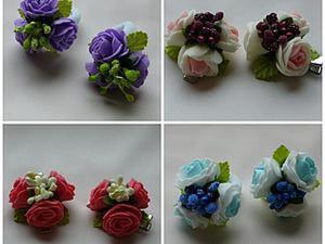 Видео мастер-класс: букетик с розами из фома на заколке или резиночке. Ярмарка Мастеров - ручная работа, handmade.