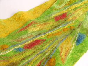 Валяный шарф «Утренняя сюита». Ярмарка Мастеров - ручная работа, handmade.
