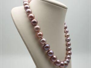 Ожерелье из жемчуга Эдисон «Фиолетовый фонтан». Ярмарка Мастеров - ручная работа, handmade.