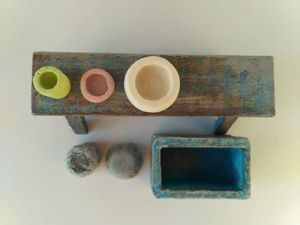 Выгодная покупка: садовая скамейка для миниатюры — горшочки в подарок!. Ярмарка Мастеров - ручная работа, handmade.