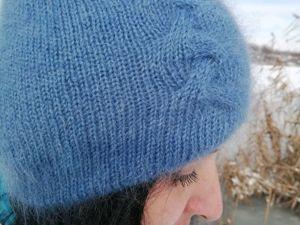 Старт аукциона на шапочку с теневой косой. Ярмарка Мастеров - ручная работа, handmade.