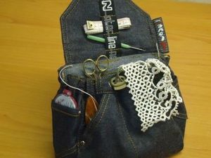 Шьём джинсовый рюкзачок-органайзер. Часть1. Ярмарка Мастеров - ручная работа, handmade.