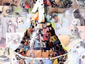 Финальная запись. День 365. Фотоколлаж из своих масляных работ  «Один год» . Ярмарка Мастеров - ручная работа, handmade.