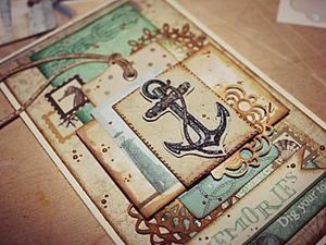 Creating Nautical Postcards in the Scrapbook Technique. Livemaster - handmade