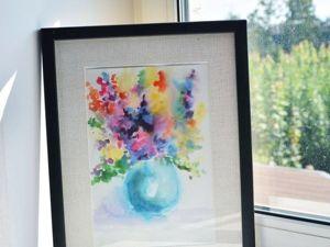 Рисуем с детьми первые цветы акварелью в технике «по-сырому». Ярмарка Мастеров - ручная работа, handmade.