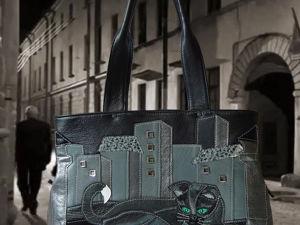 Знакомство с моими работами. Сумочка  «Чёрный кот». Ярмарка Мастеров - ручная работа, handmade.