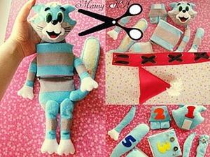 """Создаем развивающую игрушку из фетра """"Кот Матроскин"""". Ярмарка Мастеров - ручная работа, handmade."""