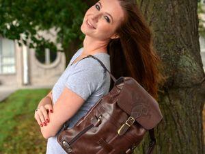 Большая распродажа кожаных рюкзаков только до 07.09.2019. Ярмарка Мастеров - ручная работа, handmade.