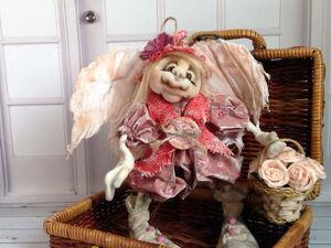 Малыши нашедшие свой дом. Текстильная, коллекционная кукла — ангел  «Цветочница Фифина». Ярмарка Мастеров - ручная работа, handmade.
