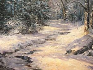 Мастер-класс по масляной живописи «Зимнее солнце». Часть 2. Ярмарка Мастеров - ручная работа, handmade.
