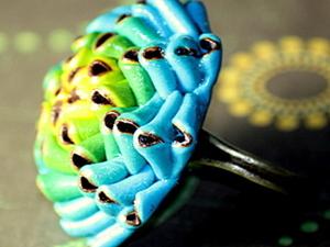 Лепим из полимерной глины кольцо «Необычный цветок» с переходом цвета. Ярмарка Мастеров - ручная работа, handmade.