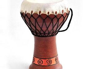 Дарбука керамическая малая. Ярмарка Мастеров - ручная работа, handmade.