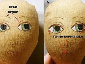 Рисую лицо текстильной кукле. Ярмарка Мастеров - ручная работа, handmade.