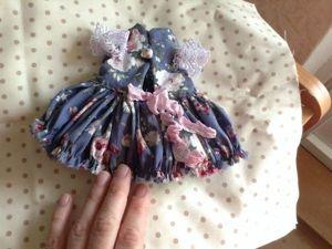 Шьем очаровательное платье с рюшами для мишки-шебби. Ярмарка Мастеров - ручная работа, handmade.