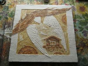 Техника декоративной штукатурки на примере работы «Ангел-хранитель дома». Ярмарка Мастеров - ручная работа, handmade.