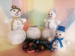 Создаем Снеговика с сюрпризом для сладкого подарка. Ярмарка Мастеров - ручная работа, handmade.
