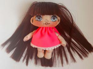 Мимимишная текстильная куколка. Ярмарка Мастеров - ручная работа, handmade.