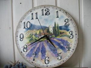 Создаем часы «Лаванда» в технике декупаж. Ярмарка Мастеров - ручная работа, handmade.