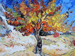 Пишем картину по мотиву «Тутовое дерево». Да поможет нам Ван Гог!. Ярмарка Мастеров - ручная работа, handmade.