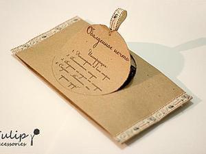 Делаем необычный подарочный крафт-пакет. Ярмарка Мастеров - ручная работа, handmade.