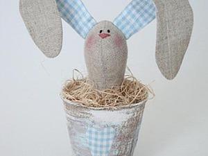 Пасхальный зайчик в горшочке. Часть 2. Ярмарка Мастеров - ручная работа, handmade.