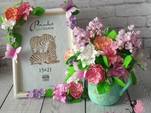 Мастерим подарок маме с цветами ручной работы из фоамирана. Часть 1. Ярмарка Мастеров - ручная работа, handmade.