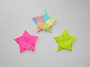 Собираем звезду из бумаги ко дню Победы. Ярмарка Мастеров - ручная работа, handmade.