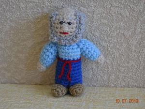 Вяжем персонажа пальчикового кукольного театра «Дед». Ярмарка Мастеров - ручная работа, handmade.