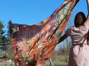 Анонс новой шелковой шали. Ярмарка Мастеров - ручная работа, handmade.