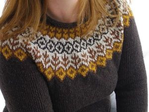 Scandinavian Sweaters: A Simple Cutting and Original Pattern. Livemaster - handmade