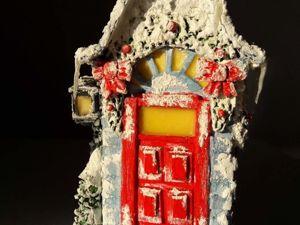 Мастерим рождественский домик из бумажного пакета от молока. Ярмарка Мастеров - ручная работа, handmade.