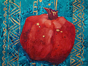 DIY Project: A Wet-on-Dry Watercolour of a Pomegranate. Livemaster - hecho a mano - handmade.