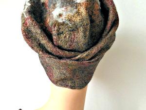 Шапочка  «Поцелуй осени». Ярмарка Мастеров - ручная работа, handmade.