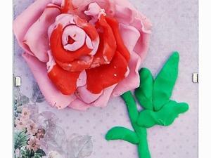 Мастерим пластилиновую розу с детьми. Ярмарка Мастеров - ручная работа, handmade.