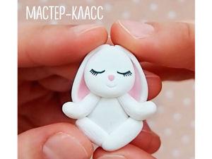 Спокойствие, только спокойствие! Лепим медитирующего зайку из полимерной глины. Ярмарка Мастеров - ручная работа, handmade.