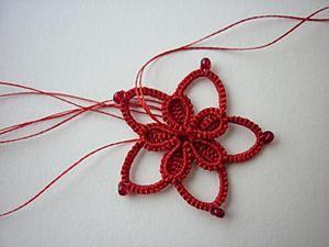Плетем цветок в технике фриволите. Ярмарка Мастеров - ручная работа, handmade.