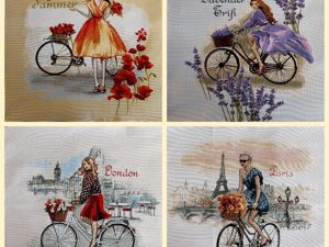 Лето. Девушка. Велосипед. Ярмарка Мастеров - ручная работа, handmade.