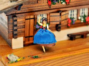 Музыкальная Шкатулка с Балериной Домик Шале REUGE Швейцария Народная Песня Song of Weggis 1960-1970гг. Ярмарка Мастеров - ручная работа, handmade.