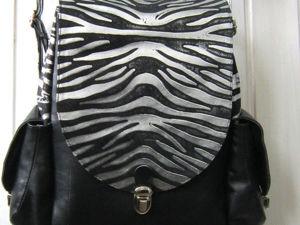 Шьем женский кожаный рюкзак. Часть 2. Процесс сборки. Ярмарка Мастеров - ручная работа, handmade.