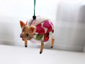 Елочная игрушка-хрюшка. Ярмарка Мастеров - ручная работа, handmade.