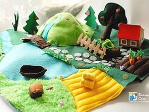 Шьем яркий и реалистичный игровой коврик из фетра. Ярмарка Мастеров - ручная работа, handmade.