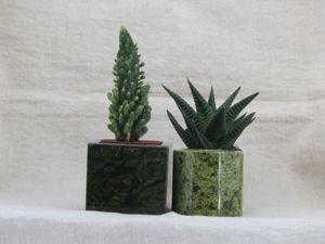 Горшочки для кактусов и суккулентов из натуральных камней. Ярмарка Мастеров - ручная работа, handmade.